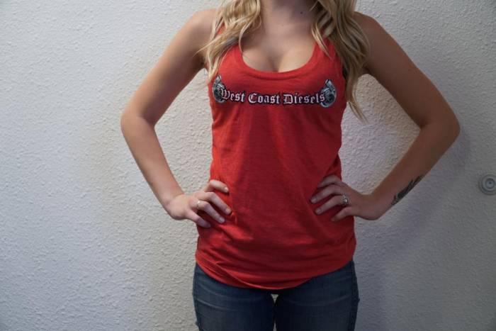West Coast Diesels - Women's Tank Top XS - Colors: Red, White, Gray, Black - Please Specify Color