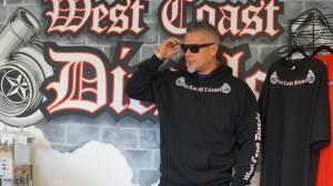 SWEATSHIRTS - PULL OVER BLACK HOODIE - West Coast Diesels - Black Hoodie