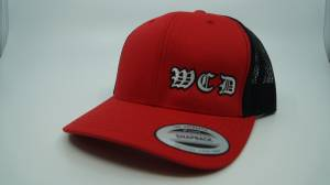 Gear & Apparel - HATS - West Coast Diesels - BLACK and RED HAT SNAP BACK